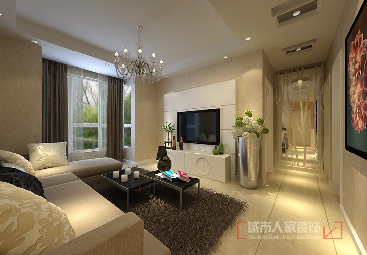 西安城市人家装修公司项目案例荣城97平现代简约风格