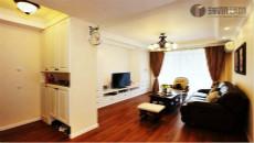 上锦美地田园风格设计欣赏/两室两厅一卫/86/总价:9万元