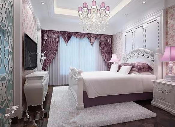 韩式卧室两室背景墙效果图