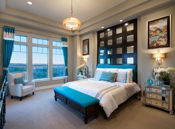 地中海卧室两室飘窗效果图