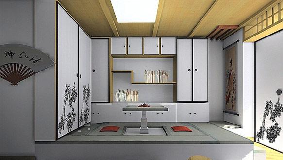 日式书房效果图