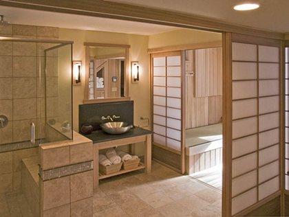 日式卫生间效果图