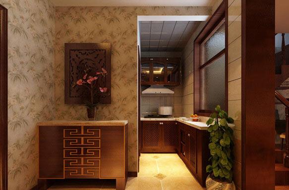 中式厨房效果图