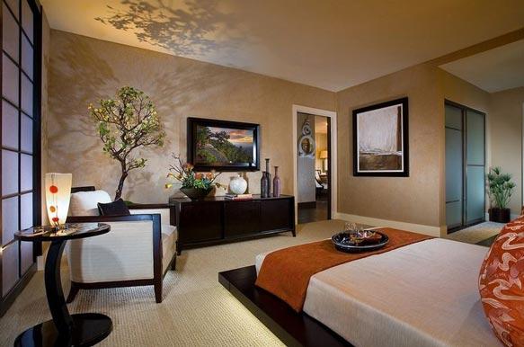 美式三室卧室飘窗效果图