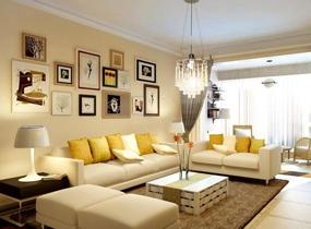 现代客厅三室电视墙效果图