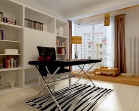 现代书房两室榻榻米效果图