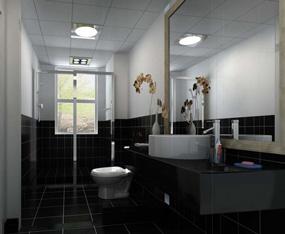 现代卫生间三室吊顶效果图