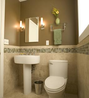 现代小户型卫生间背景墙效果图