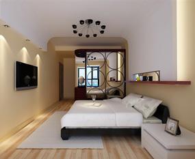现代两室卧室背景墙效果图