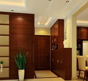新中式两室客厅玄关效果图