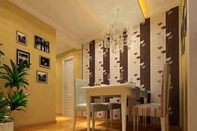 现代简约小户型餐厅背景墙效果图