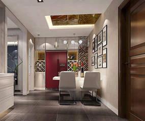 现代一室餐厅背景墙效果图