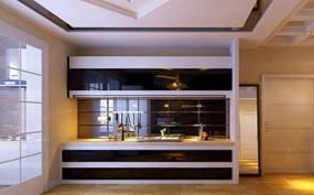 现代简约两室厨房背景墙效果图