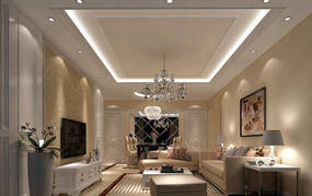 简约风格公寓客厅背景墙效果图