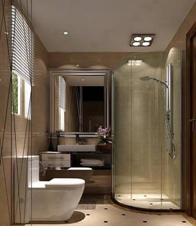现代简约两室卫生间背景墙效果图