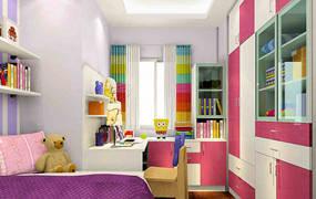 地中海两室儿童房背景墙效果图