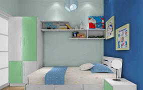 现代简约四室儿童房背景墙效果图