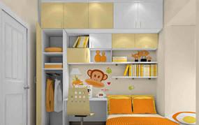 现代简约大户型儿童房背景墙效果图