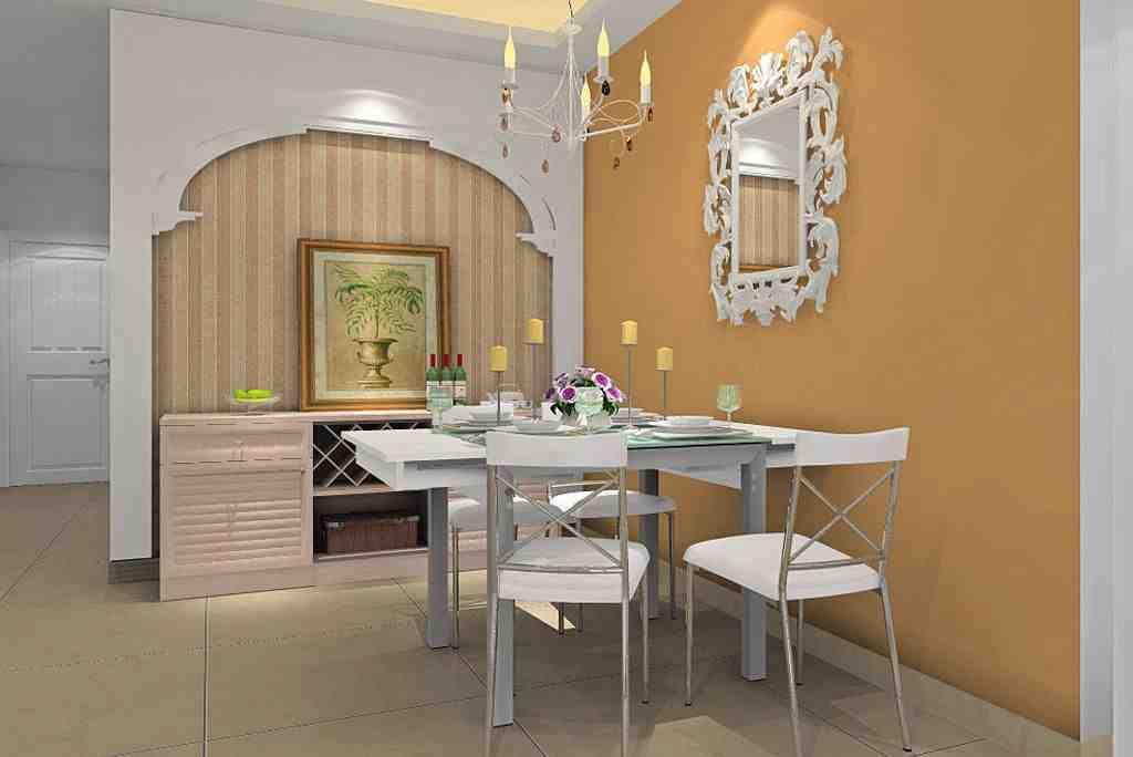 27平米现代欧式小户型餐厅背景墙效果图