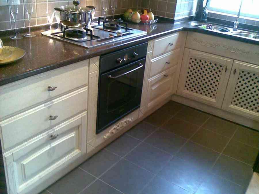 87平米简约三室厨房效果图