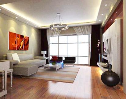119平米简约四室客厅效果图
