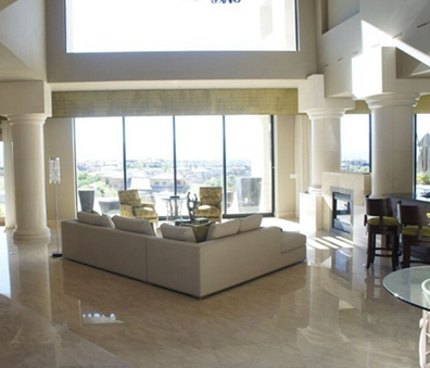 102平米现代别墅客厅效果图