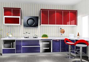 地中海三室厨房效果图