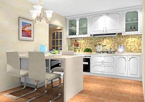 简欧复式厨房效果图