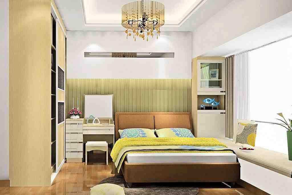 简约小户型卧室背景墙效果图