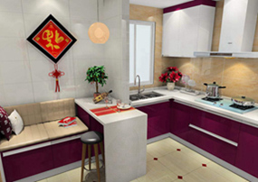 中式复式厨房效果图