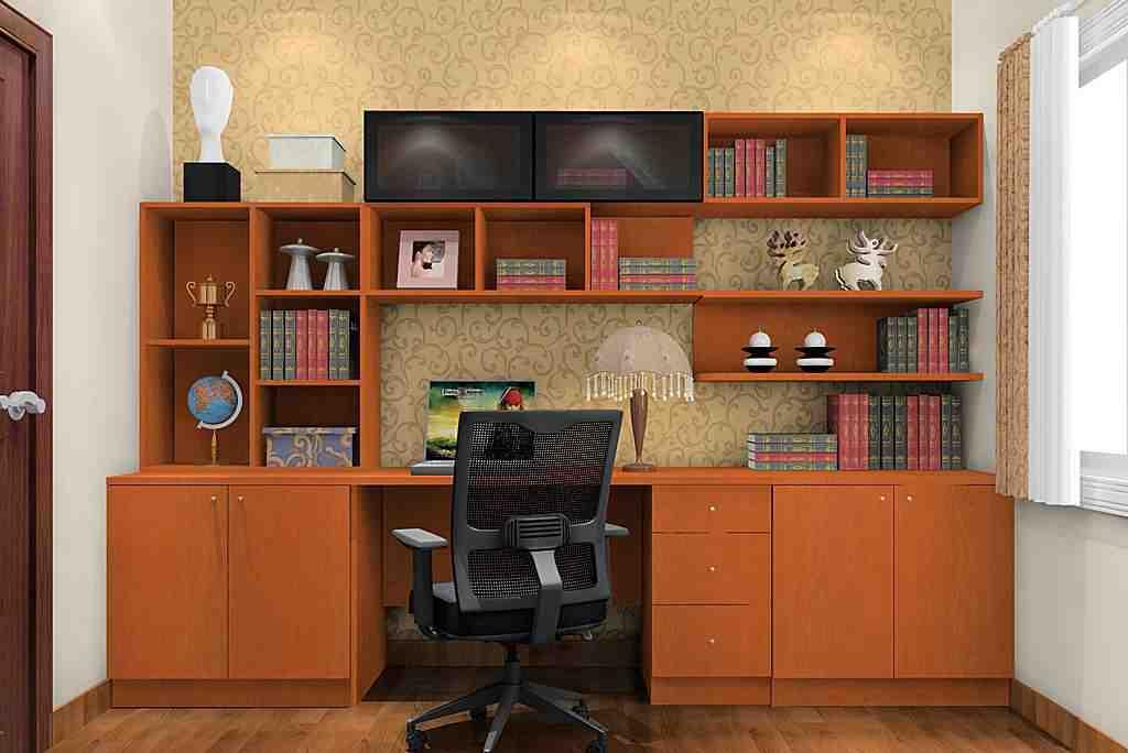 现代小户型书房效果图