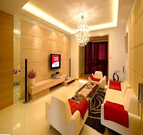 115平米现代三室客厅电视墙效果图