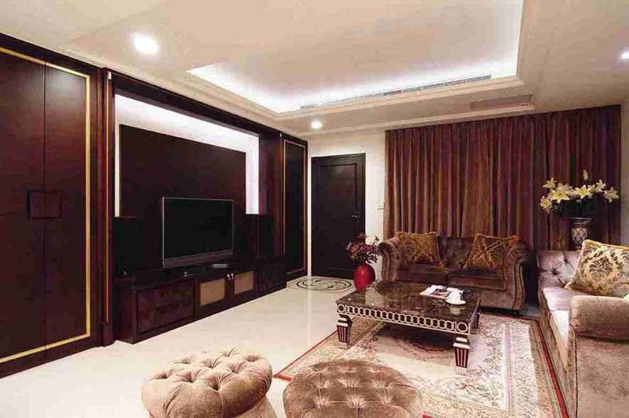 现代公寓客厅电视墙效果图