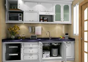 现代简约复式厨房效果图
