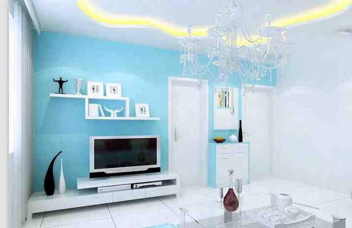 地中海小户型客厅背景墙效果图