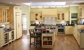 美式复式厨房效果图