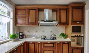 新中式三室厨房效果图