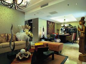 东南亚大户型客厅效果图