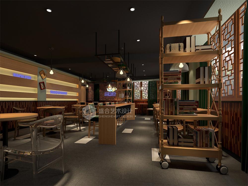 重庆盛合装修公司项目案例【餐饮设计】重庆磁器口饮品店装修设计