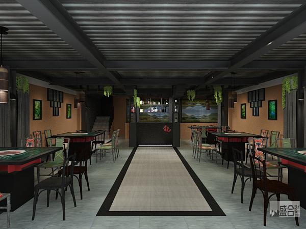 重庆盛合装修公司项目案例【餐饮设计】重庆聚龙门火锅店装修设计