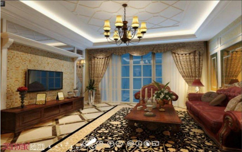 重庆美的家鸿馆装修公司项目案例【美的家装饰】金科城—美式风格