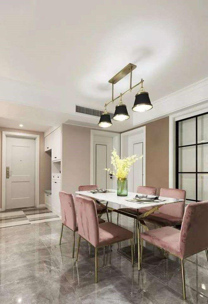 重庆唐卡装饰公司项目案例美式轻奢3居室