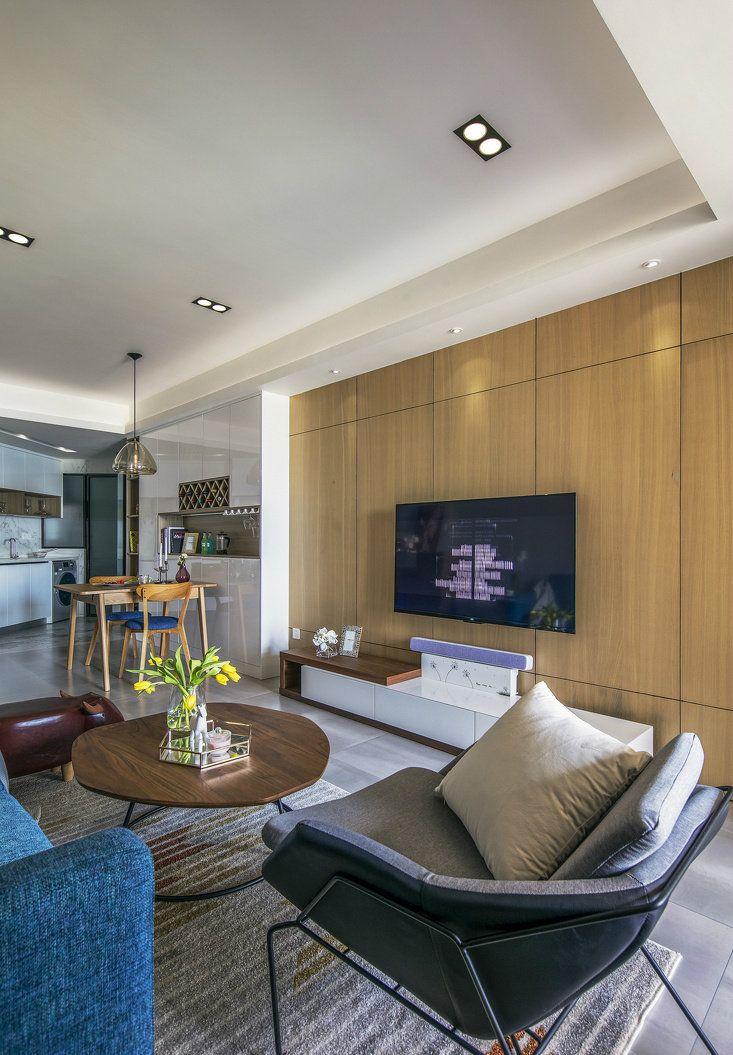 项目案例78㎡温馨现代简约风二居室,整个空间氛围