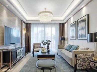 100㎡现代轻奢风格,淡雅闲适的家居空间