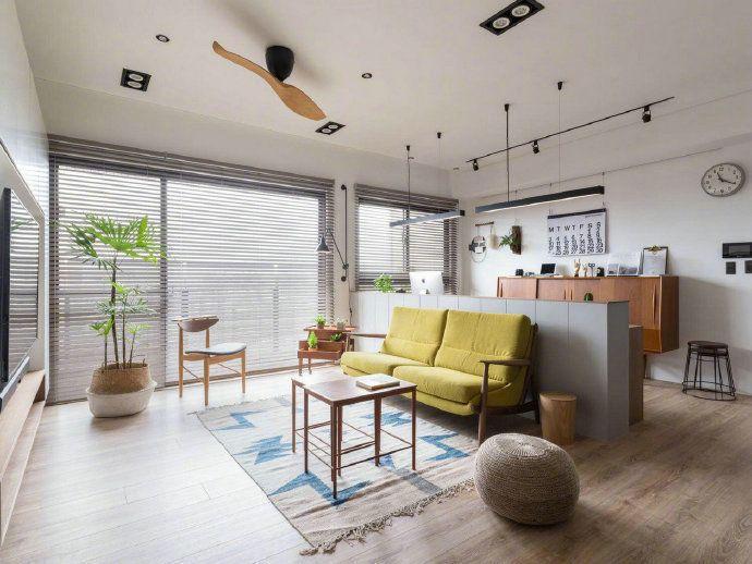 项目案例清新北欧风三居室,休闲舒适的惬意空间
