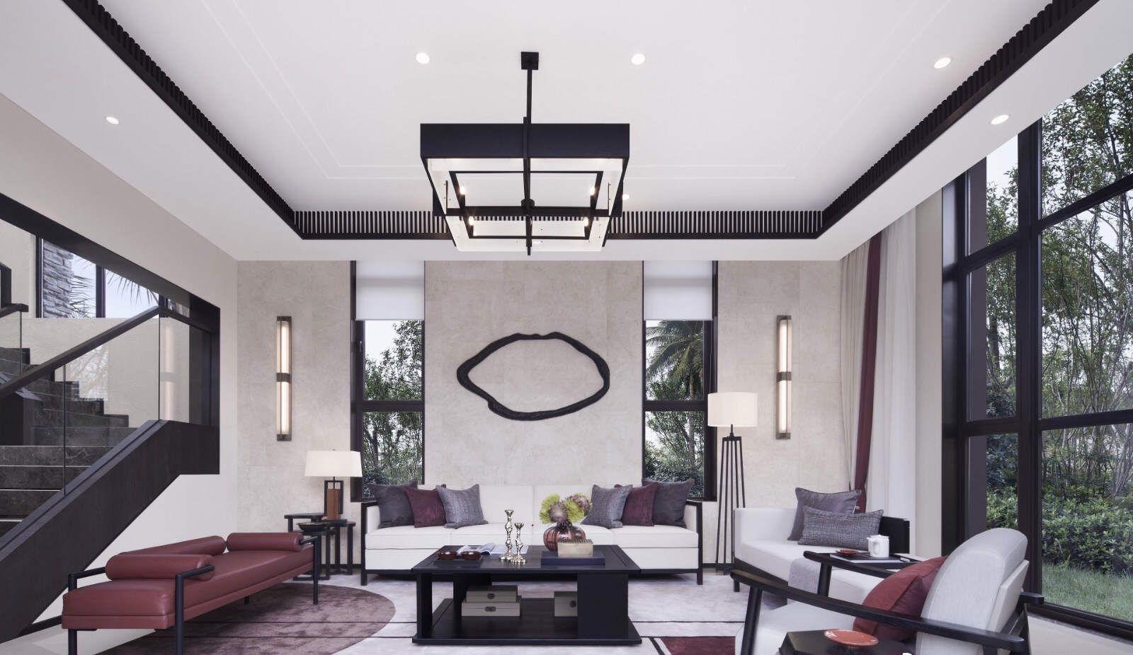 项目案例240平新中式别墅设计,沉静闲适 