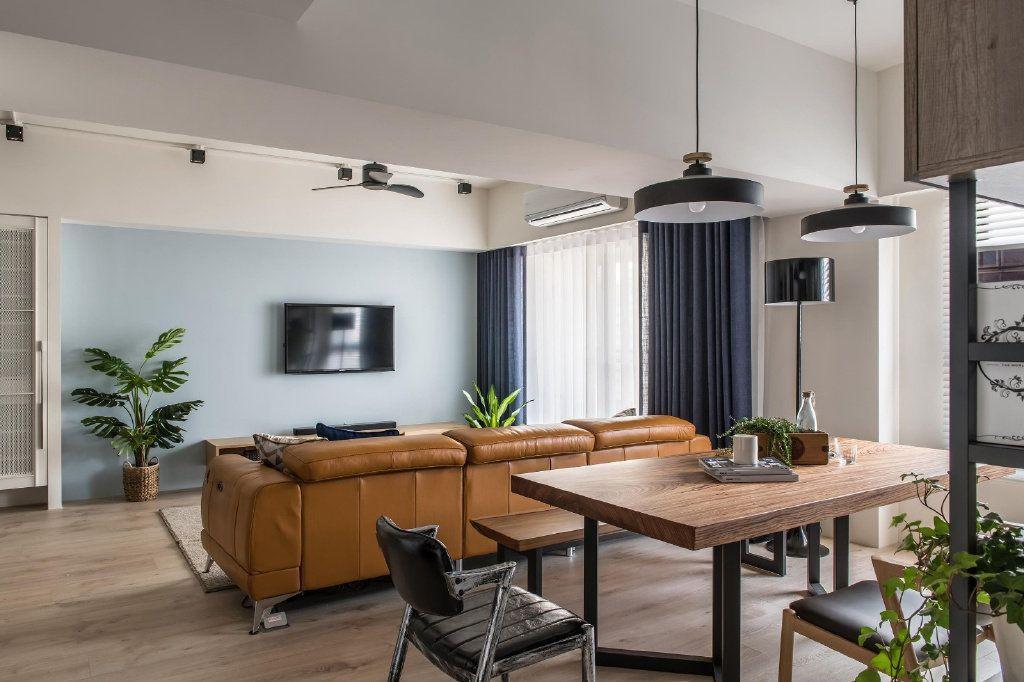 项目案例112㎡现代混搭风格家居设计