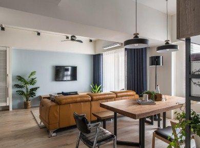112㎡现代混搭风格家居设计/三居室/112/总价:15.6万元