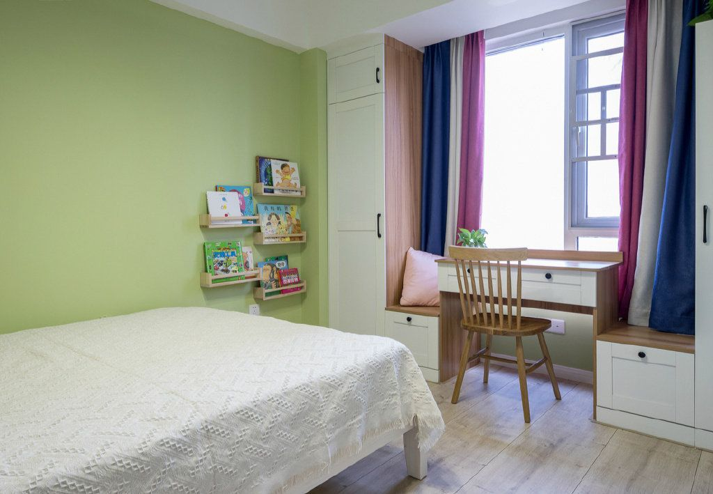 项目案例100㎡简约北欧风格三居室装修设计