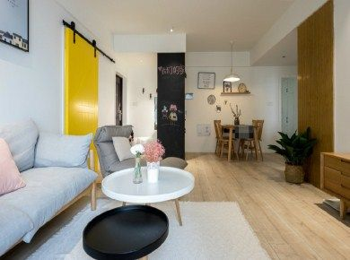 100㎡简约北欧风格三居室装修设计/三居室/100/总价:13.9万元